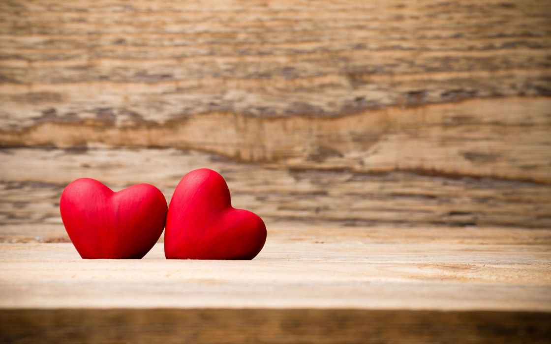 heart holiday love Mood photo two reed hearts Valentine wooden wooden table wallpaper