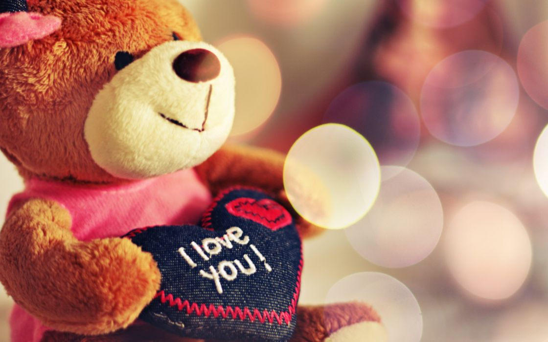 macro bear bokeh happy heart i love you light love photo smile teddy Teddy bear Valentine wallpaper