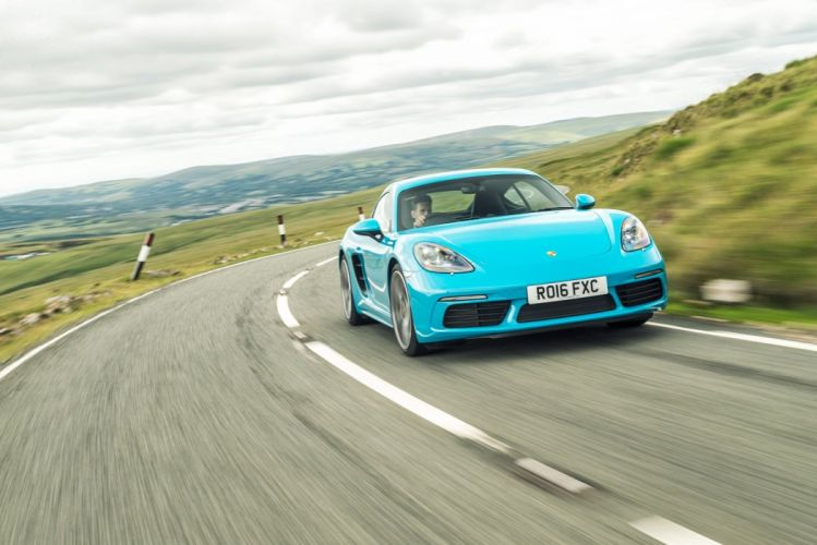 Porsche 718 Cayman S UK-spec (982C) cars blue 2016 wallpaper