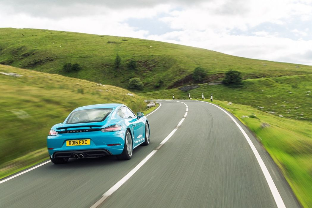 Porsche 718 Cayman S UK-spec (982C) cars blue 2016 wallpaper
