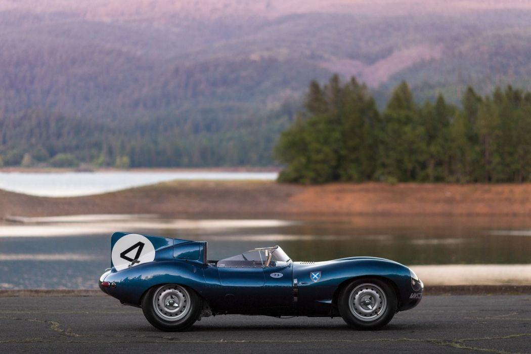 Jaguar D-Type Short Nose with stabilisation 1955 cars racecars wallpaper
