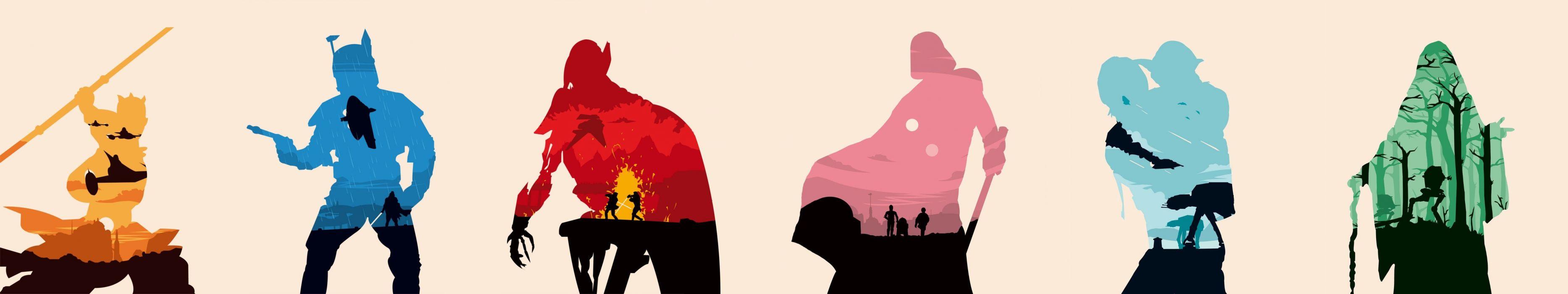 star wars silhouettes wallpaper
