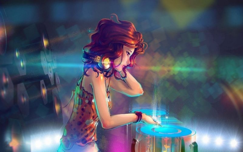 abstracto chica fiesta wallpaper