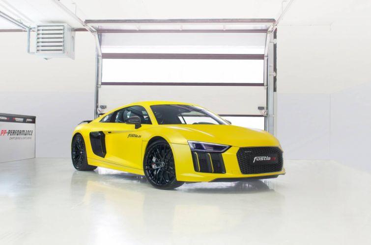 Audi R8 V10 Plus cars yellow modified wallpaper