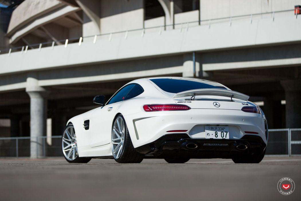 vossen wheels Mercedes Benz AMG white GTS wallpaper