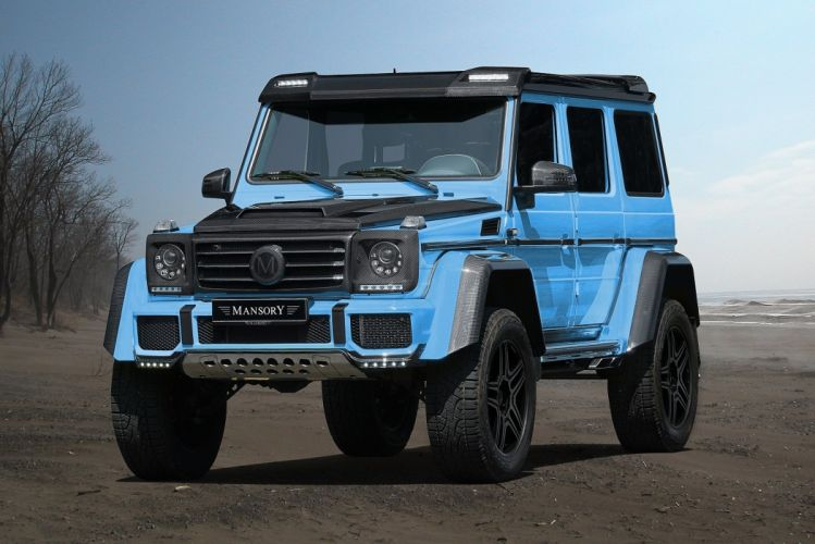 mansory mercedes benz G-500 4x4 cars blue modified wallpaper