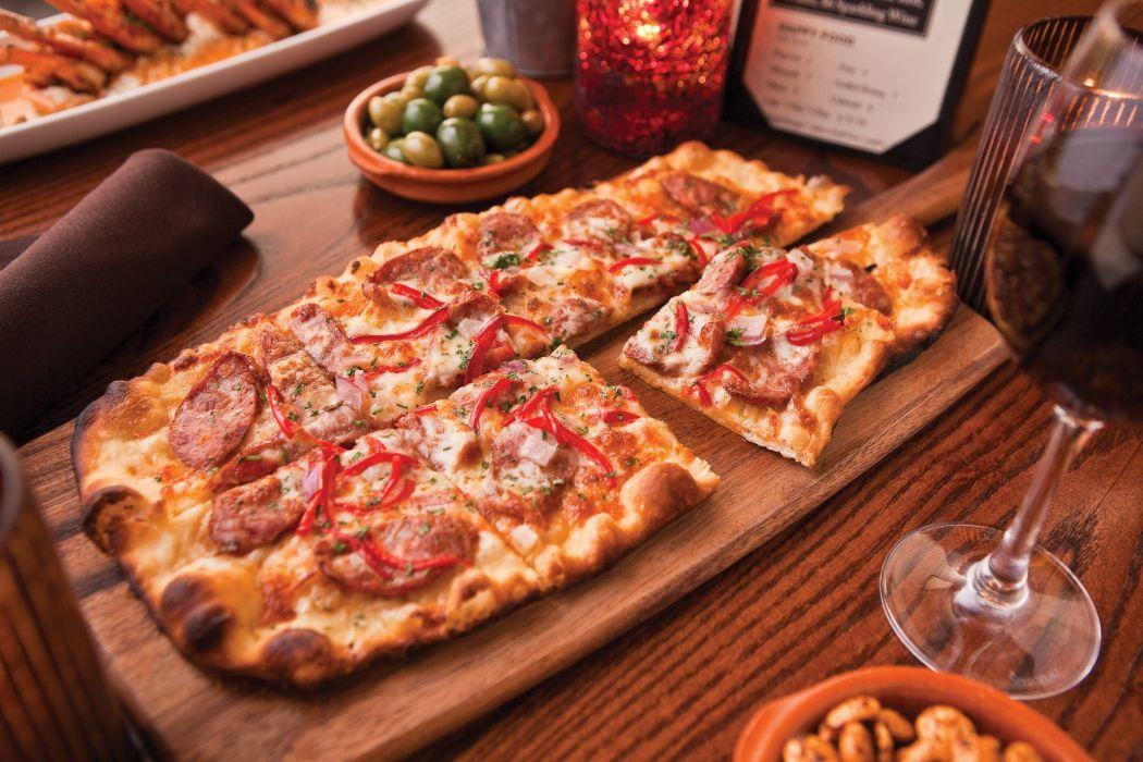 pizza comida ingredientes wallpaper