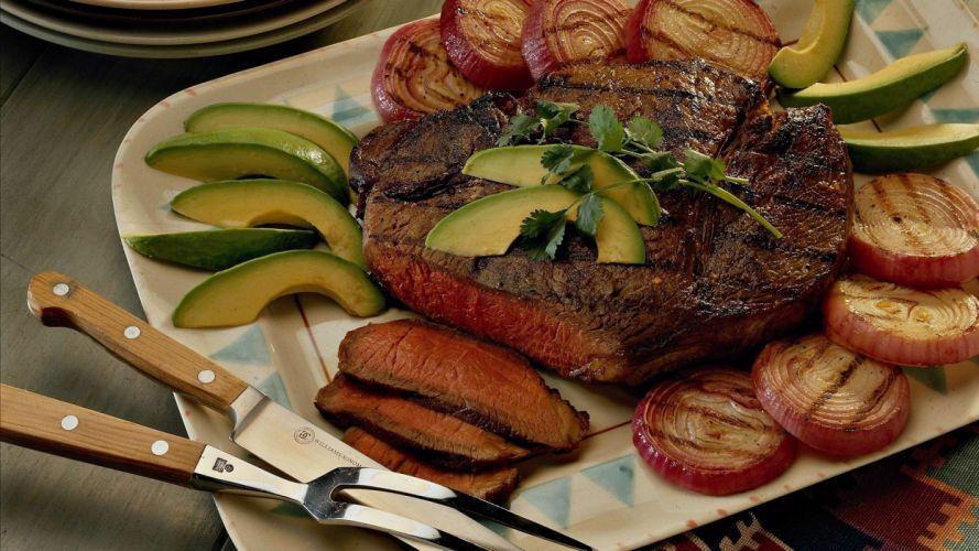 comidas carnes asados verduras wallpaper