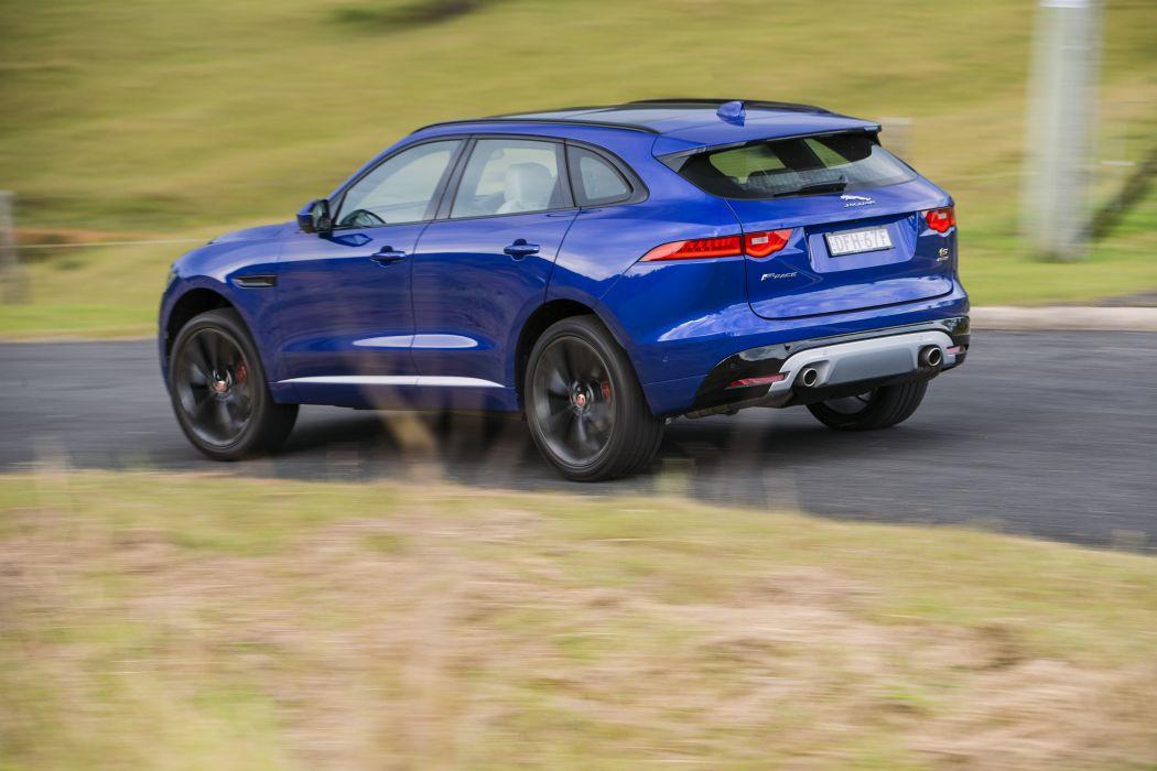 Jaguar F-Pace S 35t AWD AU-spec cars suv blue 2016 wallpaper
