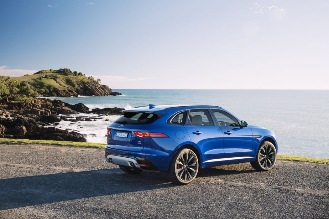 Jaguar F-Pace S 35t AWD AU-spec cars suv blue 2016 wallpaper