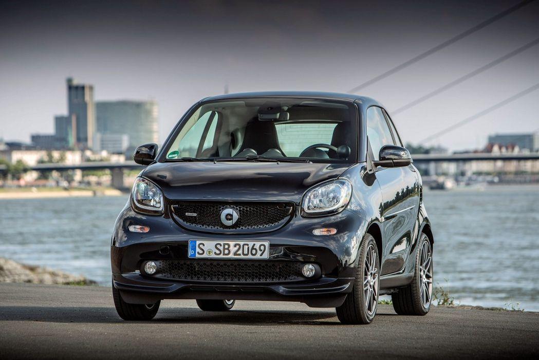 smart BRABUS fortwo Xclusive coupe cars black (C453) 2016 wallpaper