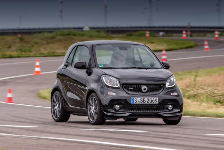 smart BRABUS fortwo Xclusive coupe cars black (C453) 2016 wallpaper