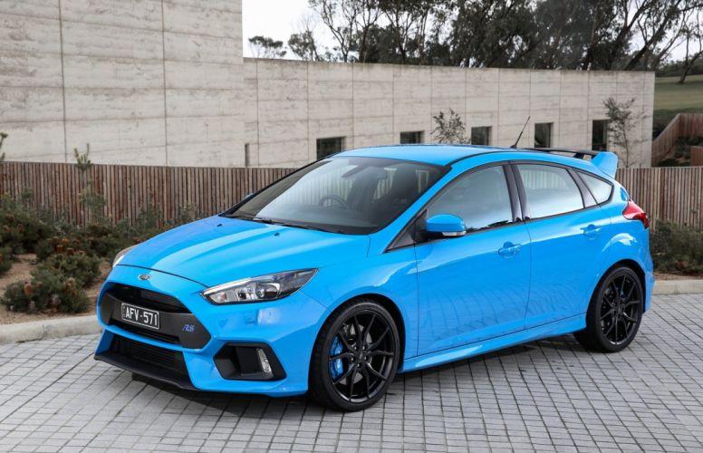 Ford Focus RS AU-spec cars blue 2016 wallpaper