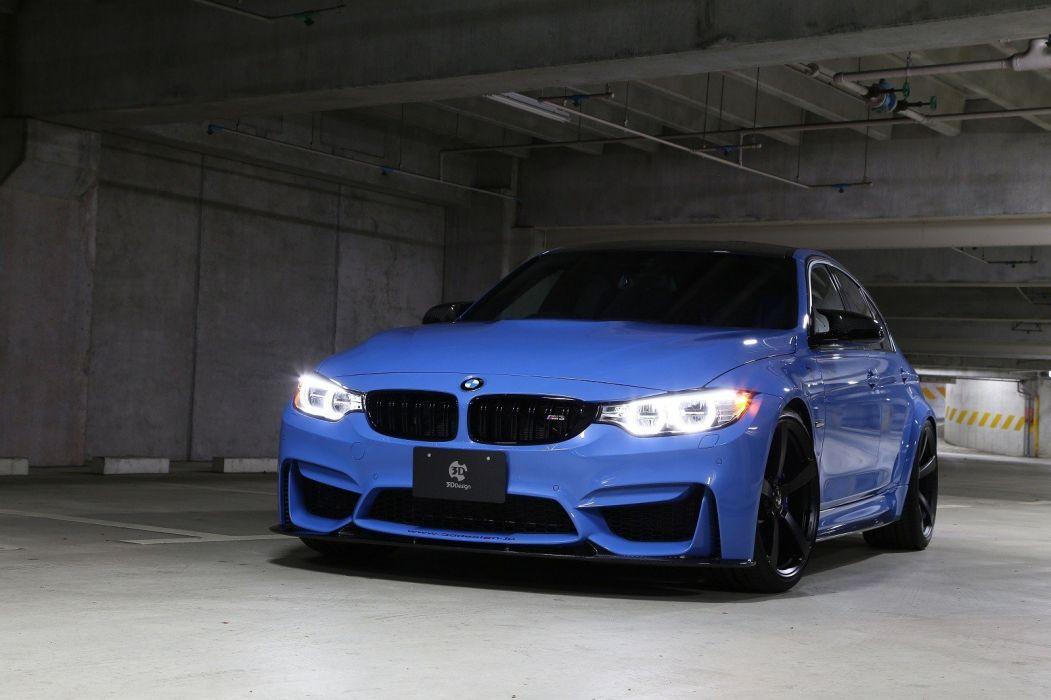 3d Design Bmw M3 F80 Cars Sedan Blue Modified 2014 Wallpaper 1600x1066 995662 Wallpaperup