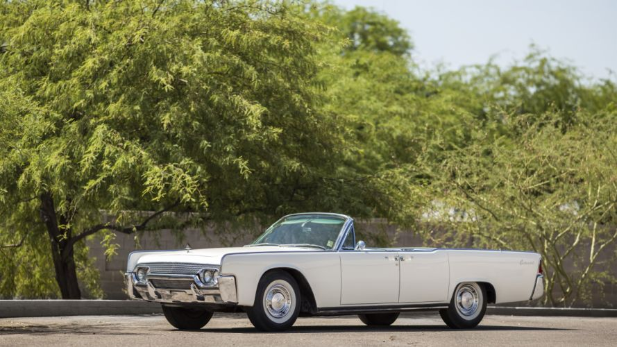 1961 Lincoln Continental Convertible cars white classic wallpaper