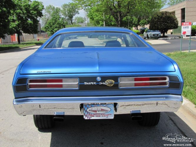 1972 Plymouth Duster 340 cars coupe blue wallpaper