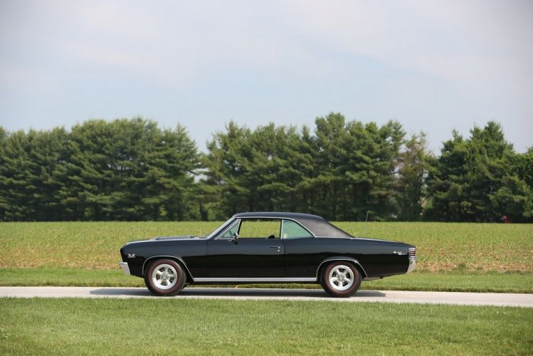 1967 Chevrolet Chevelle SS 396 L34 Sport Coupe cars black muscle cars wallpaper