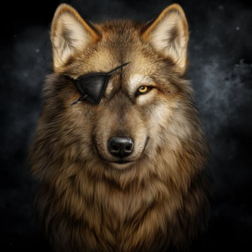 Wolves Painting Art Eye patch Fantasy Animals wallpapers wallpaper