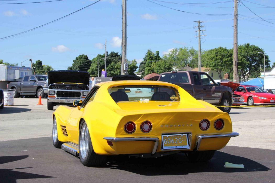 1972 Corvette chevy cars yellow wallpaper