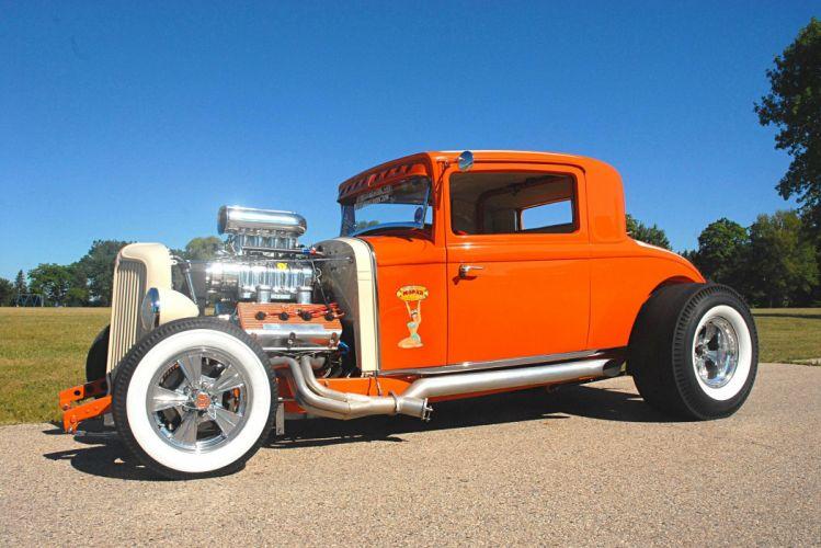 1931 Chrysler Coupe cars orange hot rod classic wallpaper