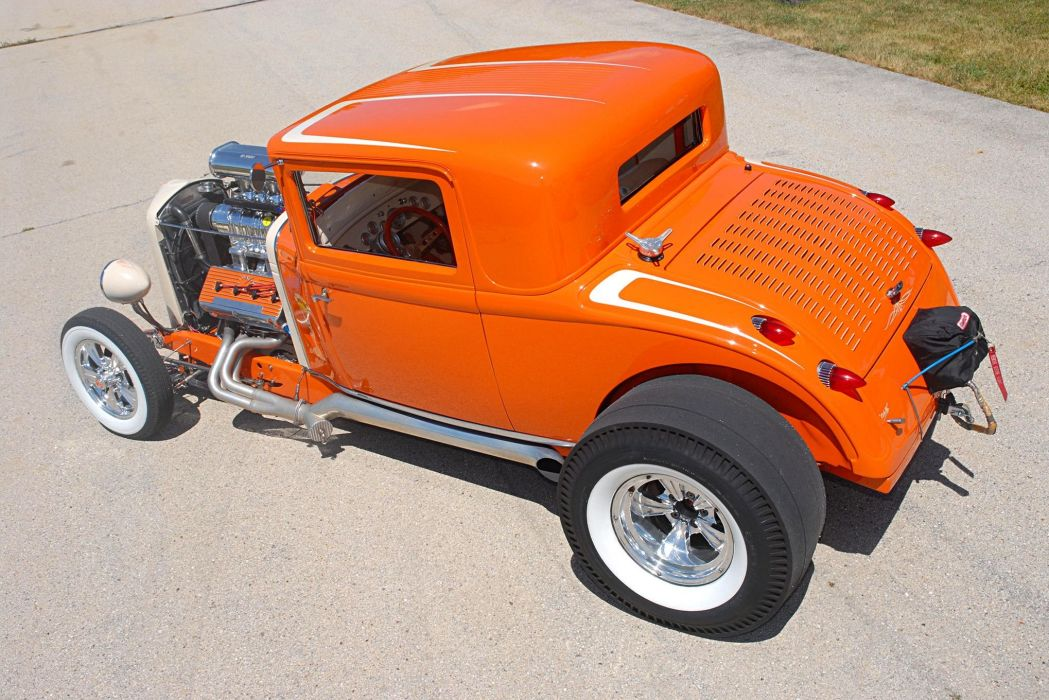 1931 Chrysler Coupe cars orange hot rod classic wallpaper