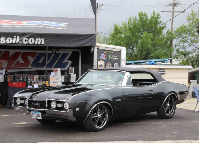 1968 Olds 442 cars convertible black wallpaper