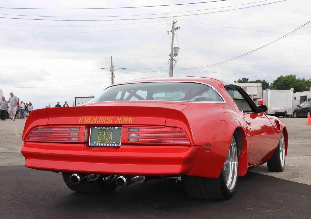1978 Pontiac Firebird trans-am cars red wallpaper