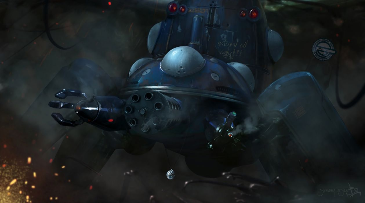 ghost in the shell sergey lesiuk tachikoma wallpaper