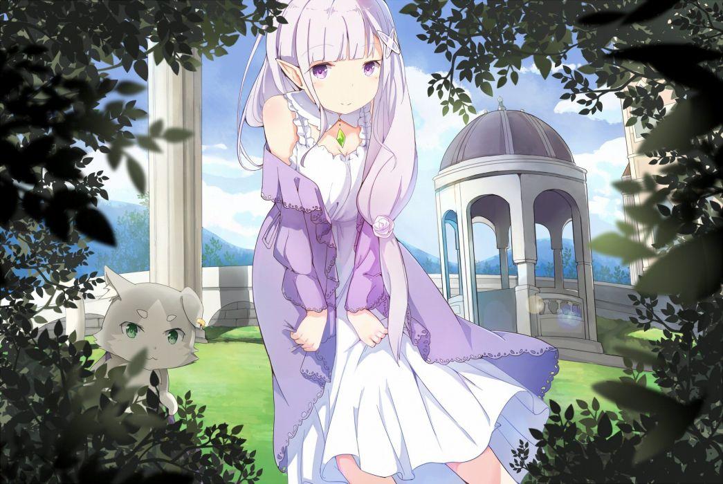 Emilia Puck Re Zero Kara Hajimeru Isekai Seikatsu Waifu2x