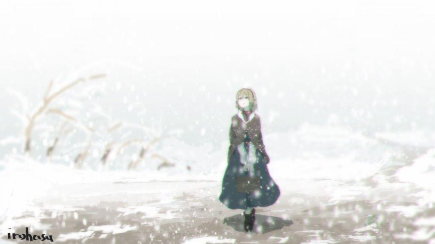 alice margatroid irohasu (sasagarasu) short hair signed snow touhou wallpaper