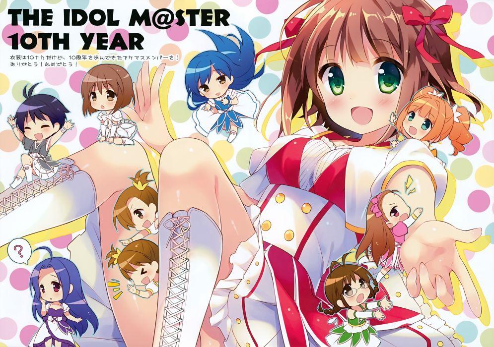 amami haruka futami ami futami mami idolmaster kisaragi chihaya minase iori miura azusa scan suimya tagme (character) takatsuki yayoi wallpaper