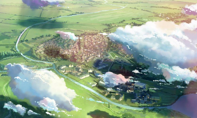 building clouds landscape nobody original scenic water xi chen chen wallpaper