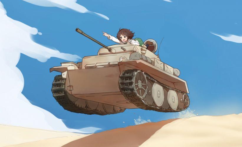 akiyama yukari combat vehicle coupon (skyth) girls und panzer wallpaper