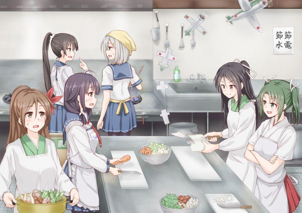 amagi (kancolle) food group hamakaze (kancolle) isokaze (kancolle) kantai collection tagme tagme (artist) taigei (kancolle) zuikaku (kancolle) wallpaper