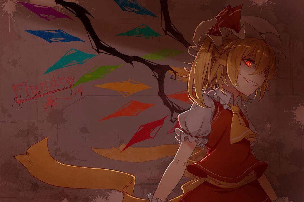flandre scarlet rinrin-shi touhou vampire wallpaper