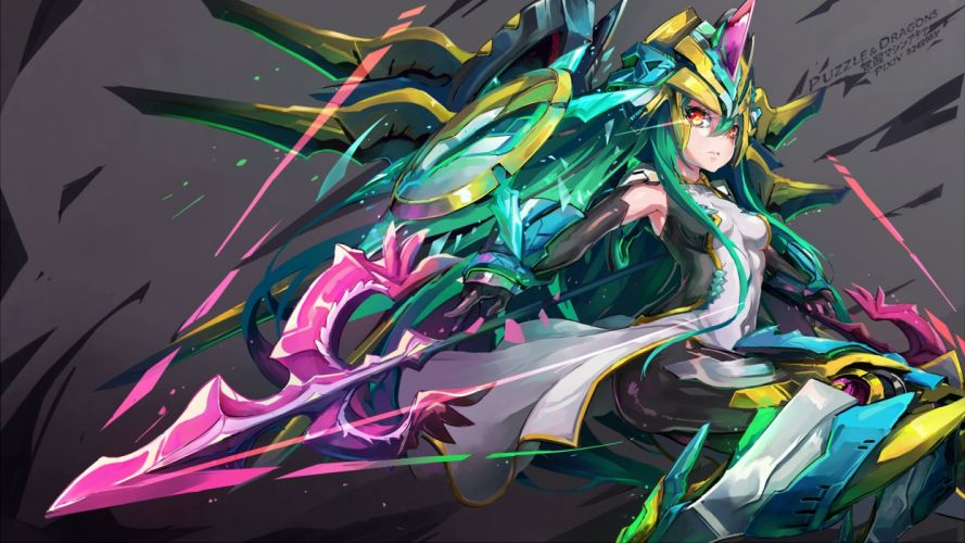 Puzzle & Dragons Athena (P&D) Goddess wallpaper