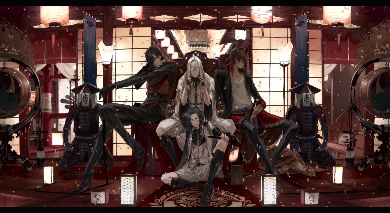 Touken Ranbu Taikogane Sadamune Ookurikara Shokudaikiri Mitsutada Tsurumaru Kuninaga wallpaper