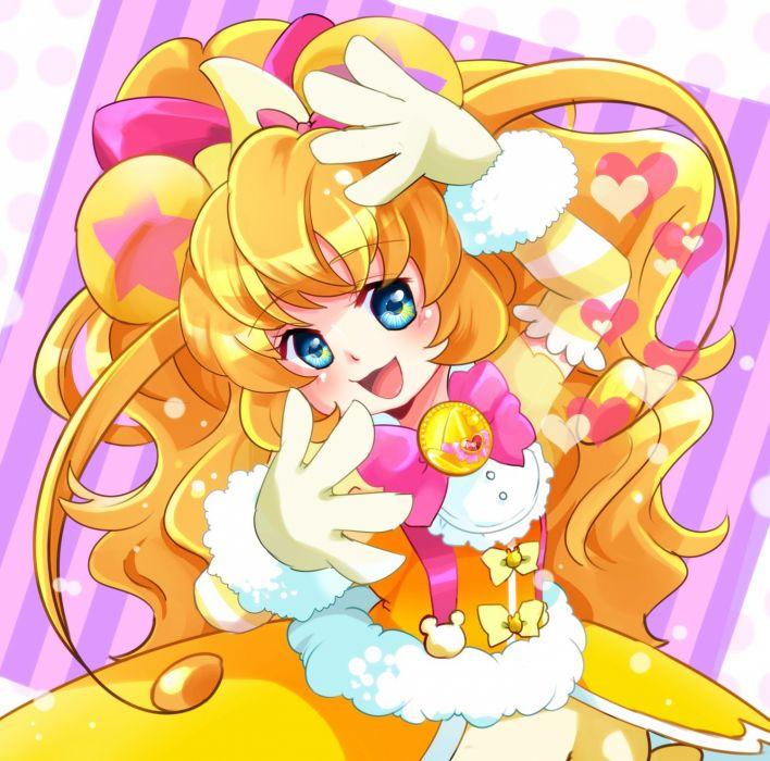 Mahou Tsukai Precure! Cure Mofurun Mofurun Pink Bow Kumamimi wallpaper
