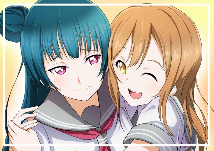Love Live! Sunshine!! Kunikida Hanamaru Tsushima Yoshiko wallpaper