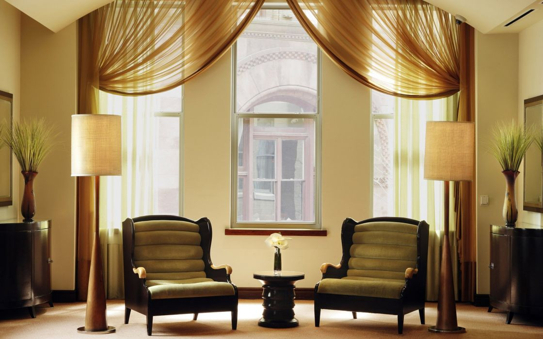 salon muebles cortinas interior wallpaper