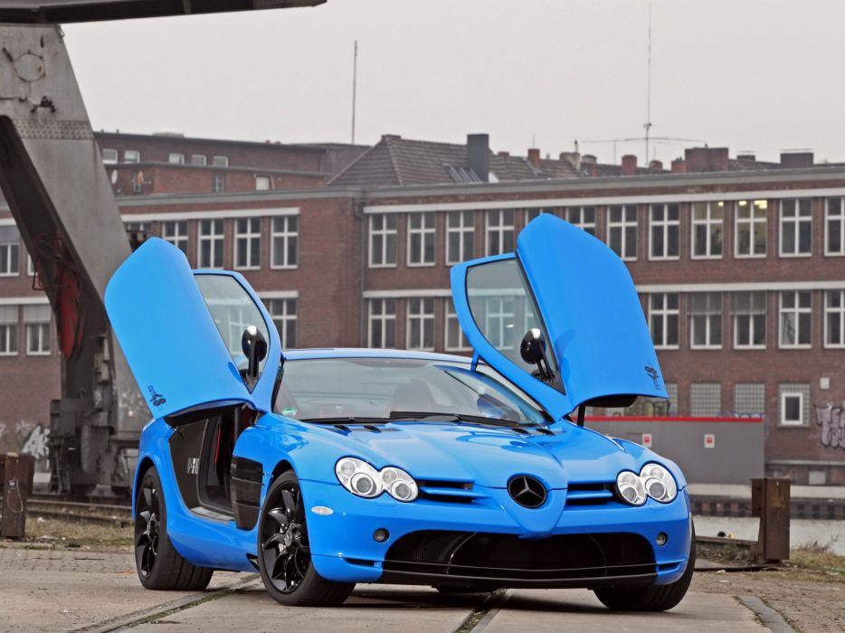 Mercedes Benz SLR McLaren Edo Competition (C199) cars blue modified 2013 wallpaper