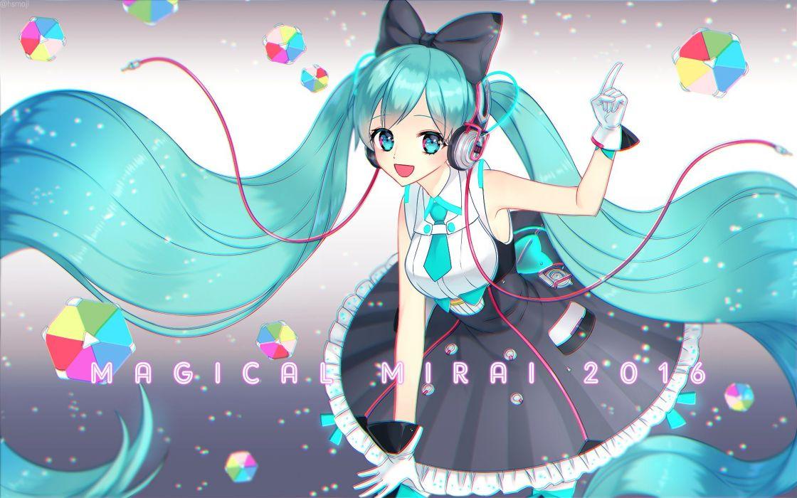 Vocaloid Hatsune Miku Double Buttons Frilly Dress wallpaper