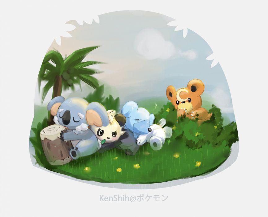 Pokemon Cubchoo Teddiursa Komala Pancham wallpaper