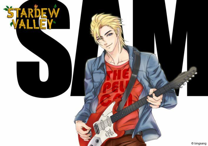 Bingsang Stardew Valley Sam (stardew Valley) Guitar wallpaper
