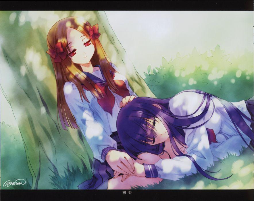 CARNELIAN Yami to Boushi to Hon no Tabibito Azuma Hatsumi Azuma Hazuki Lap Pillow wallpaper