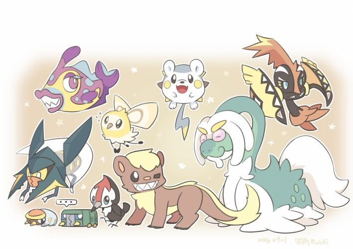 Pokemon Tapu Koko Togedemaru Yungoos Vikavolt wallpaper