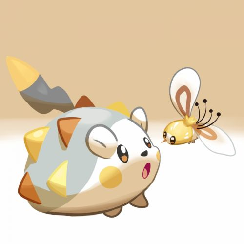 Pokemon Togedemaru Cutiefly Midair Flying Wabatte-meru wallpaper