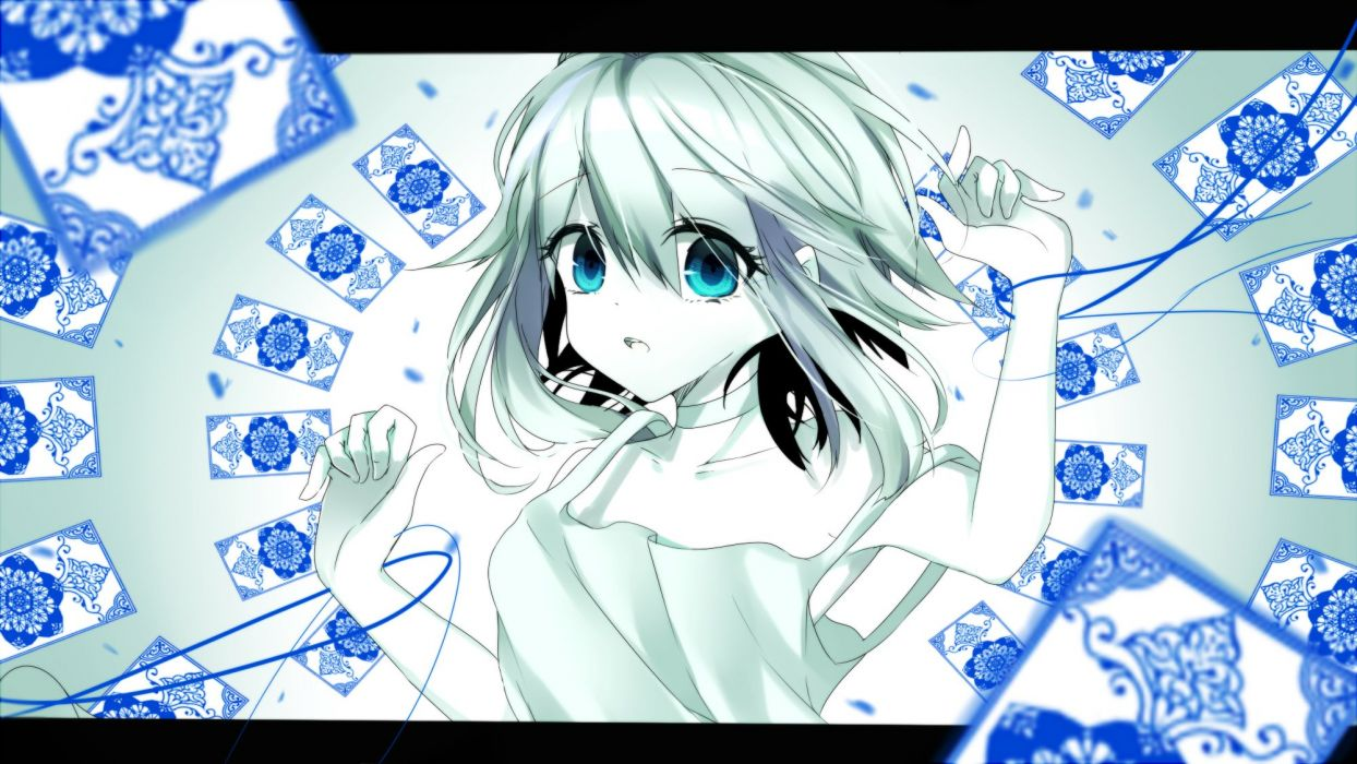 Vocaloid GUMI Card (Object) Gradient Background Unnaturally White Skin wallpaper