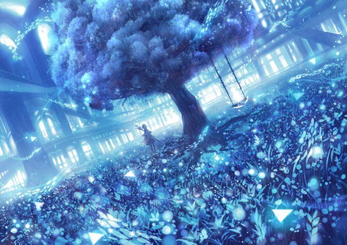 Sakimori Staff Blue original wallpaper