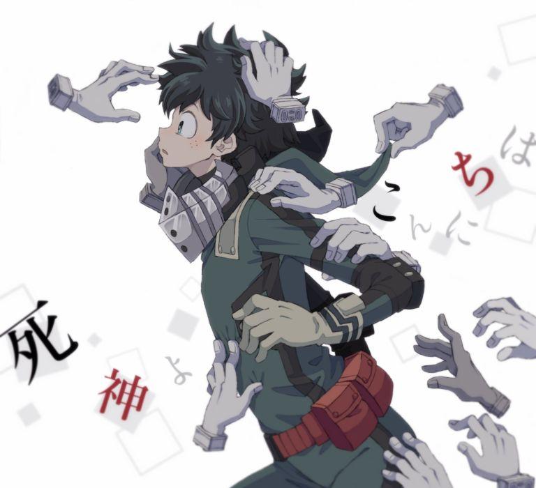 Boku no Hero Academia Midoriya Izuku Hands Freckles wallpaper